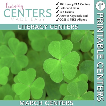 March Centers--First Grade ELA