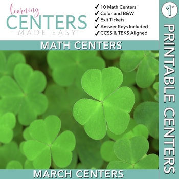 March Centers--First Grade MATH