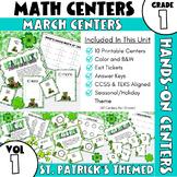 March Centers--First Grade MATH