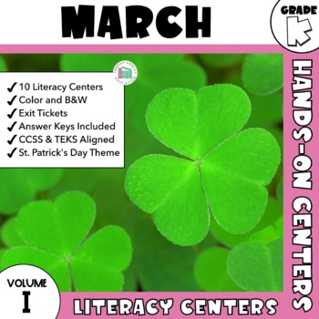 March Centers -- Kindergarten ELA ONLY