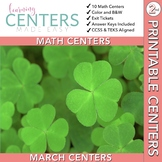 March Centers: 2nd Grade MATH ONLY