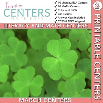 March Centers -- 2nd Grade Math and ELA