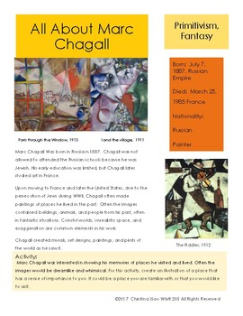 Marc Chagall Sketchbook Prompt