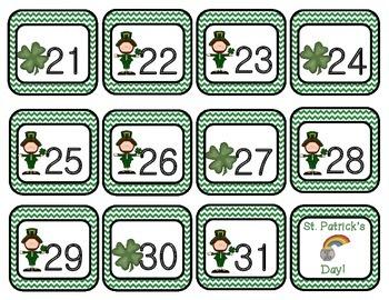 March Chevron Calendar Set