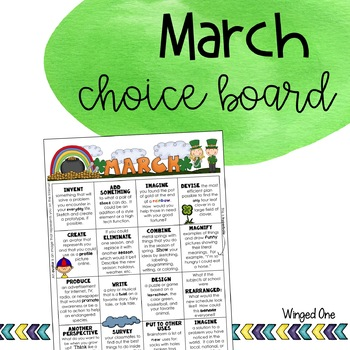 March Early Finishers: Choice Board
