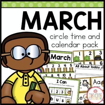 MARCH MORNING MEETING CALENDAR AND CIRCLE TIME RESOURCES