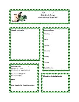 original-208104-1 Newsletter Templates Kindergarten on farm field trip template, book cover template, kindergarten newsletters to parents, contact form template, weekly letter to parents template, fall clip art template, kindergarten newsletters for jan,
