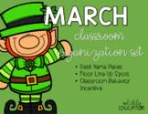 March Classroom Organization Set