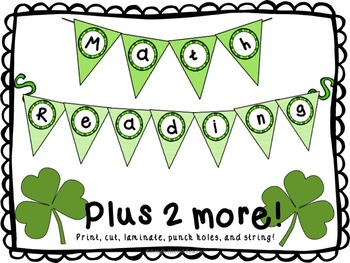 March Classroom Signs for Bulletin Boards {Bunting, Pendants, Calendar, & More}