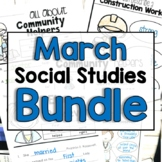 "March ""Click-and-Print"" Social Studies Bundle"