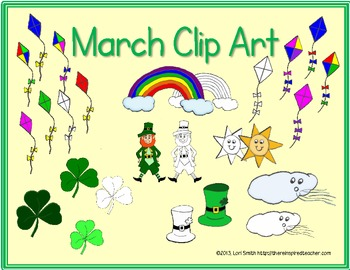 March Clip Art (Graphics for Commercial Use)