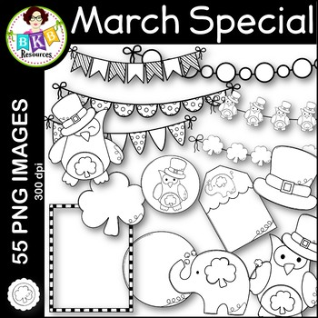 March Clip Art ● March Monthly Special ● Limited Discounted Offer