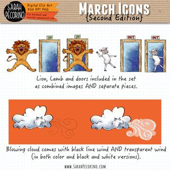 March Clip Art {Second Edition}