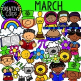 March Clipart {Creative Clips Clipart}