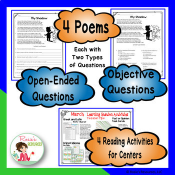 Reading Comprehension Passages and Questions  - March