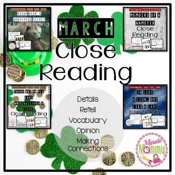 March Close Reading Bundle {4 packs in 1}