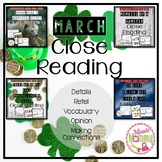 March Close Reading Bundle: 4 packs in 1