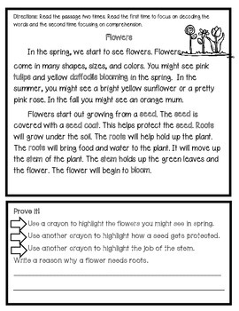 March Close Reading Freebie