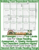 March Close Reading Passages for Text Evidence w/ CCSS Aligned Tdq's