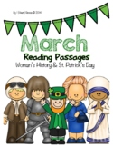 March Close Reading Passages for 4-6 {Women's History & St. Patrick's Day}