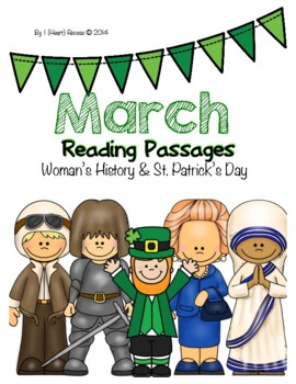 March Close Reading Passages for 4-6 {Women's History & St