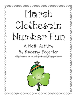 March Clothespin Number Fun