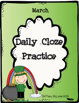 March Cloze Reading Practice
