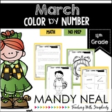 March Color By Number for 4th Grade Math