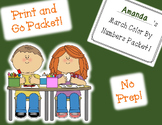 March Color By Numbers Packet! PRINT AND GO!