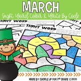 March Color and Write by Code