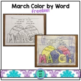 March Color by Word FREEBIE!