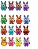 Colorful Bunnies 4 Letter Sight Word Scramble Literacy Center Week 3 & 4