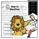 March Comes In Like A Lion and Out Like a Lamb - Literacy and Craft