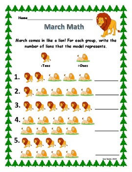 March Comes in Like a Lion Math!