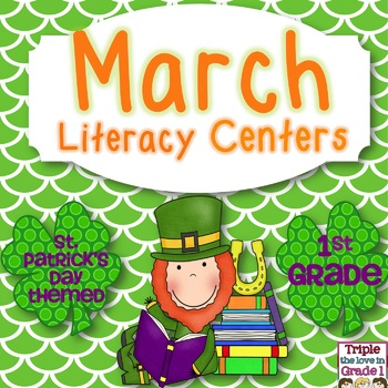 March Common Core Aligned Literacy Centers - 1st Grade