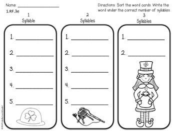March Common Core Aligned Literacy Centers - 1st Grade