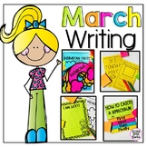 March Writing Prompts, Paper and Organizers for Grades 1-3