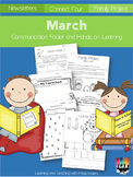 March Communication Folder and Homework Packet