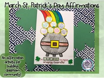 March Community Building Affirmation Activity