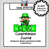 March Comprehension Journal:  Reading Comprehension Passages and MORE