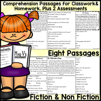Reading Comprehension Passages & Questions: MARCH EDITION