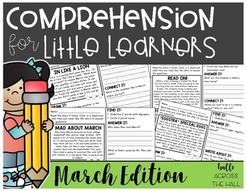 Comprehension Passages and Questions for Little Learners: March