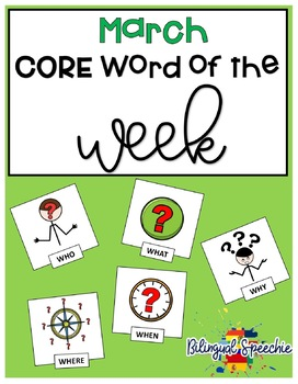 March Core Word of the Week (Spanish & English)