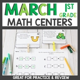 March Math Centers Kindergarten