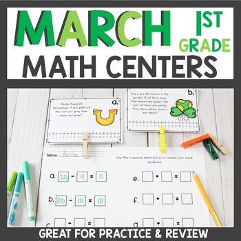 March Math Task Cards and Count the Room