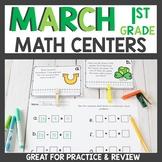 First Grade Math Centers March