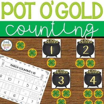 March Counting Center Activity and Worksheet