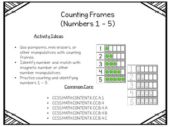 March St. Patrick's Day Counting Frames (#'s 1 - 5)
