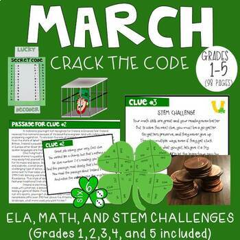 March Crack the Code Upper Elementary