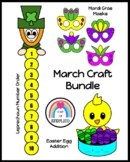 Leprechaun, Chick, Mardi Gras, March Craft Activities for Morning Work, Centers